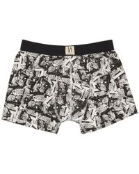 Nudie Jeans - Black And White Paper Print Boxer Briefs - Lyst