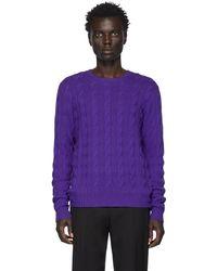 Ralph Lauren Purple Label パープル カシミア ケーブルニット セーター