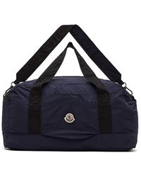 Moncler Navy Nylon Duffle Bag - Blue