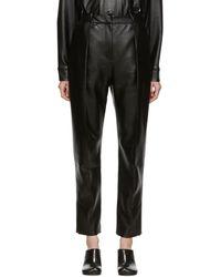 Materiel Tbilisi Ssense Exclusive Vegan Leather Pants - Black