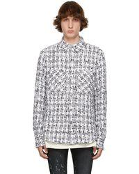Faith Connexion Ssense Exclusive White & Black Tweed Oversized Shirt