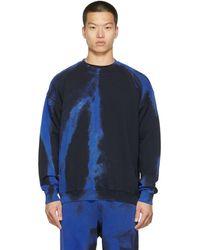 DIESEL ブラック & ブルー S-mart-rib スウェットシャツ