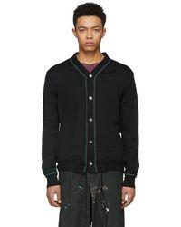 Comme des Garçons - Black Wool Knit Cardigan - Lyst