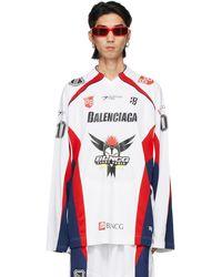 Balenciaga ホワイト Hockey ロング スリーブ T シャツ