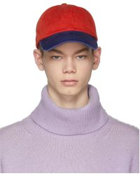 Acne | Red And Blue Carli Face Cap | Lyst