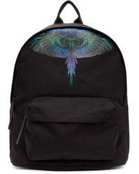 Marcelo Burlon ブラック & ブルー Neon Wings バックパック