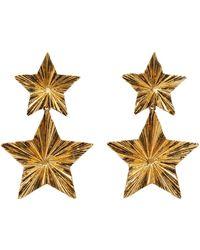 Saint Laurent Stars Earrings - Metallic