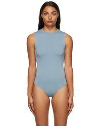 Skims - ブルー Essential Thong ボディスーツ - Lyst