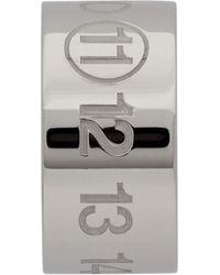 Maison Margiela Silver Polished Palladio Single Earring - Metallic