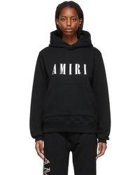 Amiri Pull à capuche en coton à logo - Noir