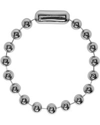 Balenciaga | Silver Metal Pearl Choker | Lyst
