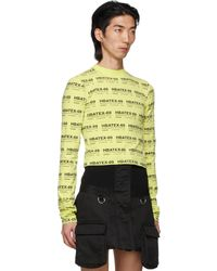 Hood By Air All Over Print Crop Long Sleeve T-shirt - Multicolor