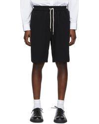 Jil Sander - Black Knit Shorts - Lyst