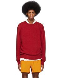 The Elder Statesman Red Cashmere Simple Sweater
