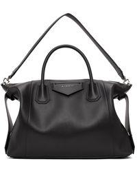Givenchy ブラック ミディアム Antigona Soft バッグ