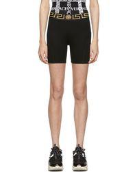 Versace Black Empire Medusa Bike Shorts