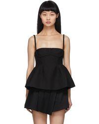 ShuShu/Tong Black Straps Camisole