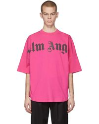Palm Angels - ピンク フロント ロゴ オーバー T シャツ - Lyst