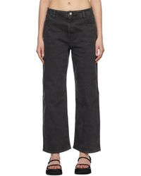 Amomento Grey Semi Wide Boot Cut Jeans