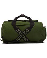 KENZO グリーン スポーツ ビッグ X ダッフル バッグ
