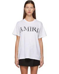 Amiri ホワイト Bandana ロゴ T シャツ