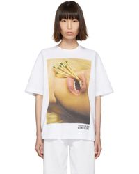 Versace Jeans Couture Couture コレクション ホワイト Matches Mouth T シャツ