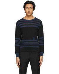 Maison Margiela ブラック And ブルー セーター