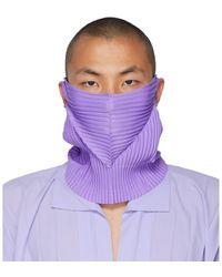 Homme Plissé Issey Miyake Purple Pleats Tube Neck Warmer