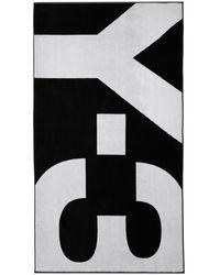 Y-3 ブラック And ホワイト ロゴ タオル