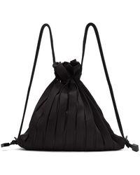 Issey Miyake ブラック Linear Knit バッグ