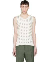 Marni - White And Brown Squares Tank Top - Lyst