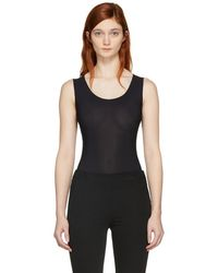 Maison Margiela - Black Sleeveless Bodysuit - Lyst