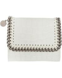 Stella McCartney | Ivory Alter Croc Falabella Small Flap Box Wallet | Lyst