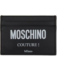 Moschino ブラック Fantasy Print Couture カード ケース
