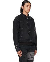 Mastermind Japan Black C2h4 Edition Denim 'c-mastermind' Layered Jacket
