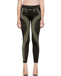MISBHV Ssense Exclusive Black And Taupe Active Leggings