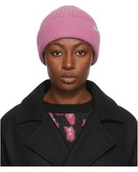 A.P.C. Pink Jude Beanie - Multicolor