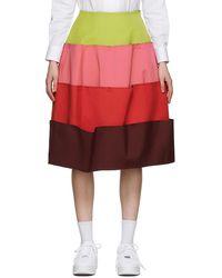 Comme des Garçons - グリーン & ピンク 4 Part スカート - Lyst