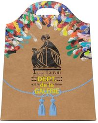 Lanvin Gallery Dept. エディション タン Printed Kraft Paper Groceryトート - マルチカラー