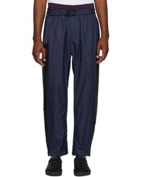 3.1 Phillip Lim - Navy And Burgundy Double Track Lounge Trousers - Lyst