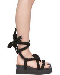 Issey Miyake United Nude Edition Node Sandals - Black