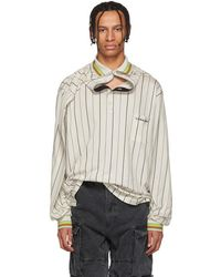 Y. Project - Beige Clipped Shoulder Long Sleeve Polo - Lyst