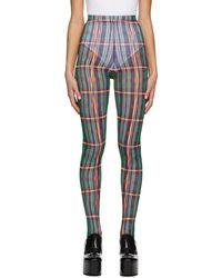 Chopova Lowena Legging à motif tartan multicolore