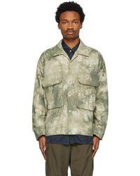 Nicholas Daley Green Tie-dye Military Jacket