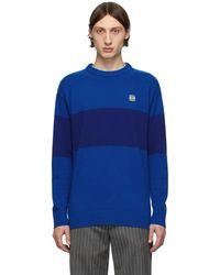 Loewe ブルー ストライプ アナグラム セーター