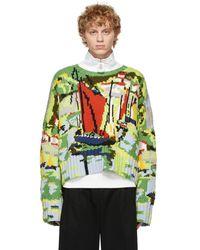 JW Anderson マルチカラー Landscape セーター