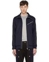 99% Is Navy & Black Zip Track Jacket - Blue