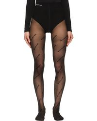 Balenciaga Logo Tights - Black