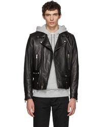 Saint Laurent - Black L01 Moto Jacket - Lyst
