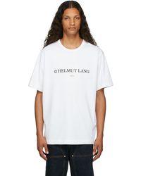 Helmut Lang ホワイト Layer ロゴ T シャツ